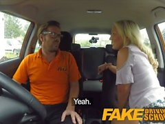 Fake Driving School Sexual discount for big tits blonde Scottish babe