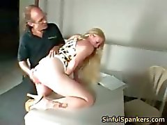 Busty blonde MILF fingering her pussy part5