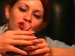 Redhead very girl likes to perform with large penis that is