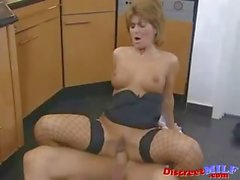 Short Hair European Mature MILF