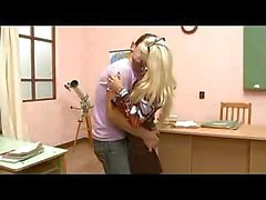 Sexy Blond Teacher Gangbang In Classroom
