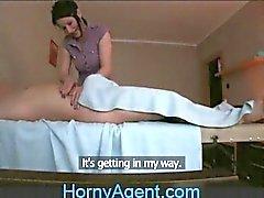 HornyAgent Fucking the Masseur MILF