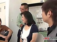 Japanese MILF Squirting Out Some Milk
