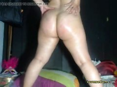 Hot milf and her oiled up body