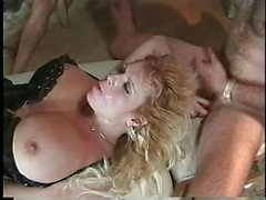 Big Busted Blonde Milf Interracial GangBang