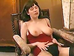 She is from cheat-meet - Hairy bitch masturbates