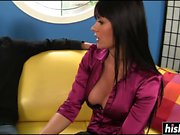 Eva Karera in stockings gets drilled