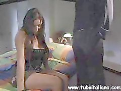 Busty brunette Italian wife cheats and gets drilled and sucks