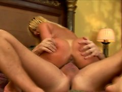 Busty blonde milf Phyllisha Ann surrenders her pussy to a hard stick