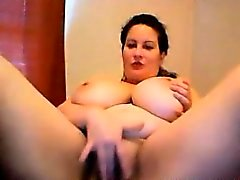 Huge tits BBW MILF masturbating