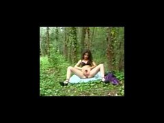 Hairy Milf Masturbating In Forest BVR