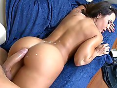 Spurting jizz all over his friend's mom's ass