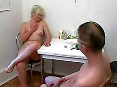 Mature woman and guy