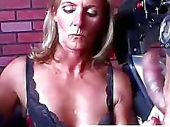 Ginger is a sexy blonde MILF who loves cum