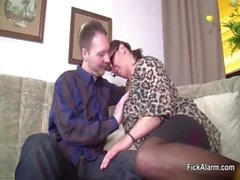 Mother Seduce Step-Son to Fuck her While Dad away