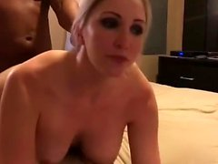 Interracial hardcore sex for skinny slut after blowjob in hd