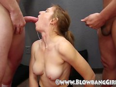 Newbie caleigh blowbangs gets her Corinna from 1fuckdatecom