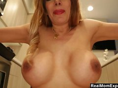POV Milf with Big Tits gets a facial
