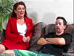 Cougar stepmom fucks stepson milf ass