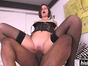 Bobbi Starr in stockings gets slammed