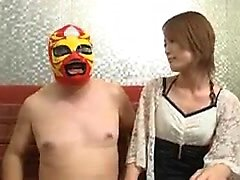Masked guy invites a fascinating Oriental beauty to fulfill