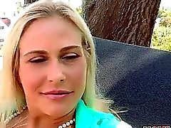 Stepmom Angel dominates in threesome sex