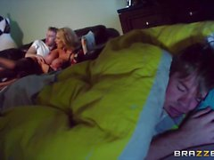 Leigh Darby takes her sons best buddy deep in her pussy