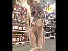 Asian MILF with a VERY SHORT SKIRT Upskirt - NO PANTIES