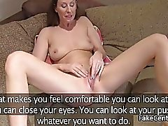 Brunette milf rimming on casting