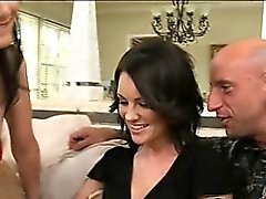 Leggy and sexy Audrey convinced her hesitant hubby Grant to