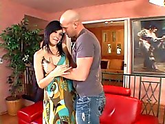 Hot housewife sucks a hard cockannd gets fucked while her husband watches