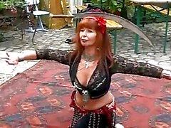 Mature Redhead Belly Dance