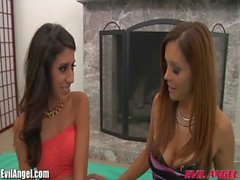 EvilAngel Francesca Le Fucks Latina in Threesome