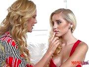 Naomi Woods & Cherie Deville blonde babe lesbian sex