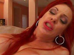 Hot redheaded milf interracial anal