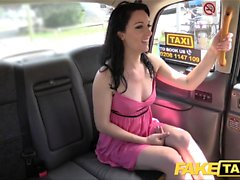 Fake Taxi Soaking wet creampie for hot brunette