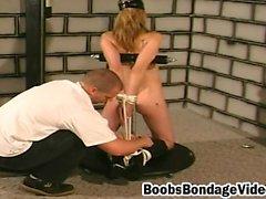 Milf blonde natural bondage girl loves spanking