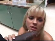 Big boobs blonde Christie enjoys a intense interracial fuck
