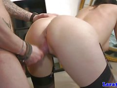 Raunchy milf gets her pussy nailed