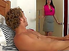 Teen and her stepmom share a good cock