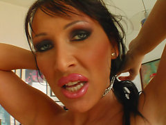 MILF Mandy rides her lovers face and cock