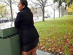 Chubby amateur babes public exhibitionism