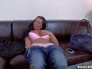 Busty euro MILF Sandra in pink panties shows it all