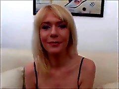 blond MILF hard gangbang