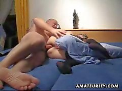 Mature amateur wife toys her ass and gets anal fucked