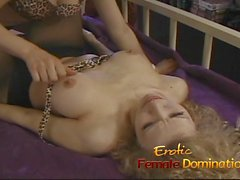 Steaming hot and kinky lesbian action with two delicious sex