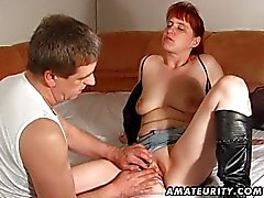 Redhead amateur wife sucks and fucks