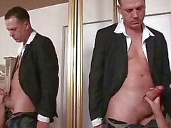 Alia Janine titty fucks a hard cock