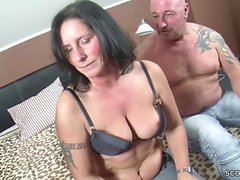 German Couple in First Time Threesome with Big Tit MILF