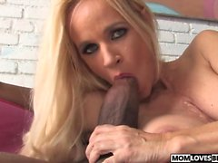 Totally Tabitha takes a BBC in front of her son